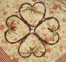 Barbed wire Heart Wreath 10 x 10 inches love country primitive wall decor