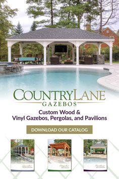 Pool House Designs, Backyard Pool Designs, Small Backyard Pools, Swimming Pools Backyard, Pool Landscaping, Outdoor Pavillion, Backyard Pavilion, Backyard Patio, Pool House Decor