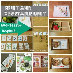 Montessori Toddler Activities: Fruit and vegetables unit by Welcome to Mommyhood  #montessori, #freeprintables #motnessoritoddleractivities