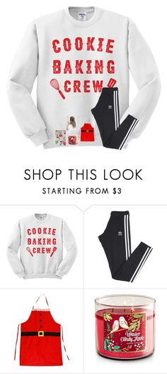 """(Quick set) Getting ready to make cookies and gingerbread house!!😊😋"" by jenna-faith11 ❤ liked on Polyvore featuring adidas"
