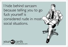This is so not me, but thought I would share for all those sarcastic folks out there.....LMFAO!!!!