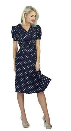 Mikarose Knee-Length Short Sleeve Spring Dress- Ariana Navy, Size XS-2XL(0-20) at Amazon Women's Clothing store: Modest Dresses $59.99