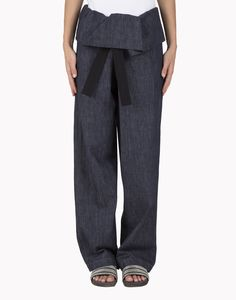 "Pantalone ""Wide-Leg Wrapped Front"" in denim ""Dark Polished"" M0F28P5125 EUR 610,00"
