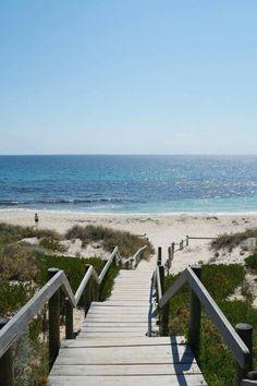 Cottesloe beach,  Perth Cottesloe Beach, Most Beautiful Beaches, White Sand Beach, Western Australia, Perth, Maps, Tourism, To Go, Signs