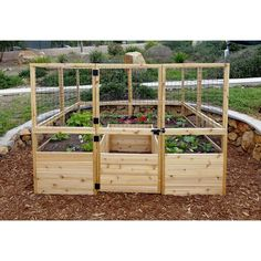 OLT Raised Cedar Garden Bed or With Deer Fence Options OLT's Raised Garden Bed takes 'Urban Gardening to a whole new level! Big in size and easy to access from all sides makes growing crops for a family of 4 or Raised Bed Fencing, Cedar Raised Garden Beds, Cedar Garden, Building A Raised Garden, Garden Fencing, Raised Beds, Mesh Fencing, Garden Landscaping, Outdoor Fencing