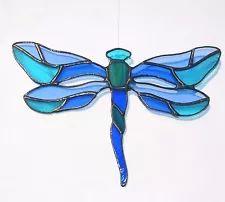 Suncatcher Handmade Stained Glass Dragonfly Home decor Gift Glass art Ornament