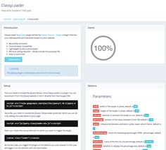 ClassyLoader is a jQuery plugin written by Marius Stanciu - Sergiu, a plugin that lets your add beautiful and animated loaders to your website.