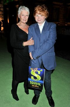 Judi Dench and Sammy her grandson