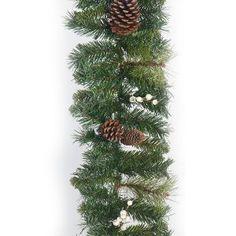 White Berries & Pine Cone Garland 6ft Christmas Lights, Christmas Wreaths, Christmas Tree, Pine Cones, String Lights, Color Change, Garland, Berries, Holiday Decor