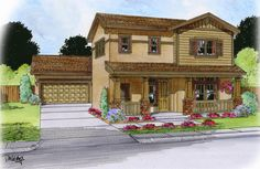 The Darlington (Elevation B) 2606 sq. ft., 4 bedroom, 3.5 bath. TWO suites and a luxurious master bath will spoil you in this largely customizable home! With the option to add not one, not two, but up to three more rooms; this four bedroom can easily become a seven bedroom!