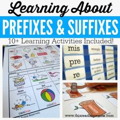 Learning About Prefixes and Suffixes - 10+ FREE Learning Activities - This…