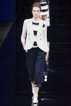 3 - The Cut Emporio Armani SS 2015, Milan Fashion week. love this blazer and stripe shirt combo:)