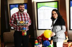 "SOFT SPOT FOR KIDS -- Gemma Barrera of Softtek Integration Systems Inc. of Bentonville (right) delivers a donation of toys to Steve Jones, Development Coordinator for NWA Children's Shelter. Toys are important things for a children's shelter to have, so for the many hours of enjoyment our kids will get from this generous donation, we offer a great big ""THANKS!"" to Ms. Barrera and Softtek Integration Systems Inc."