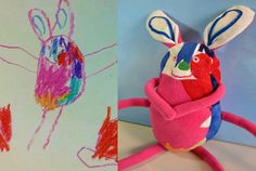 Child-Own-Studio-knuffel  Kindertekeningen worden poppen.