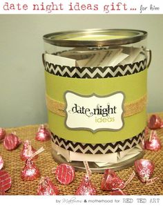 Date Night Ideas Gift with Free Printable...Great gift for Valentine's Day!