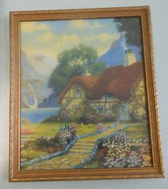 """Painting """"Cottage By The Sea"""", by R Atkinson Fox."""