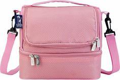 Wildkin Double Decker Lunch Bag - Rip Stop Pink - Free Shipping & Return Shipping - Shoebuy.com