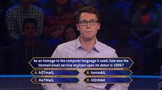 """Today on an all-new #LeapDay #MillionaireTV, Matt Wellenbach doesn't have to use #Hotmail for this question. He just needs to figure out the correct #FinalAnswer. What is it? The one way to know for sure is to tune-in for Monday's all-new """"Millionaire"""" with host Chris Harrison. Go to www.millionairetv.com for time and channel to watch."""