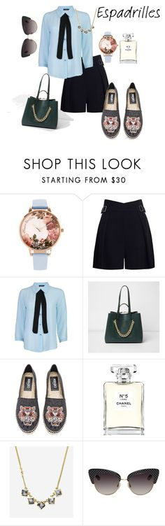 """Step into Summer: Espadrilles"" by emma-oloughlin ❤ liked on Polyvore featuring Olivia Burton, Zimmermann, Boohoo, River Island, Kenzo, Chanel, Cole Haan, Dolce&Gabbana, chic and ootd"