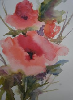flower  by mj milbrandt #watercolor # floral