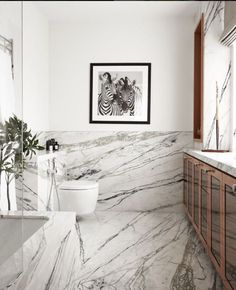 Marble-clad bathroom