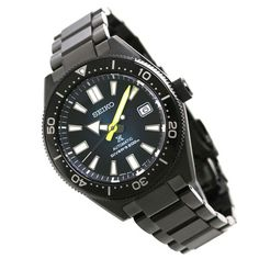 Seiko Automatic Watches, Seiko Watches, Black Stainless Steel, Stainless Steel Bracelet, Sport Watches, Watches For Men, Casio Watch, Jewels, Stuff To Buy
