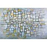 Found it at Wayfair - 'Composition in Blue, Gray, and Pink' by Piet Mondrian Canvas Art