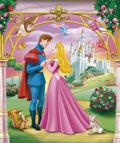 Princess Aurora and Prince Phillip Disney Pixar, Disney Cartoon Characters, Disney Cartoons, Disney Magic, Disney Art, Princesa Disney Aurora, Disney Princess Aurora, Disney Princesses And Princes, Aladdin Princess