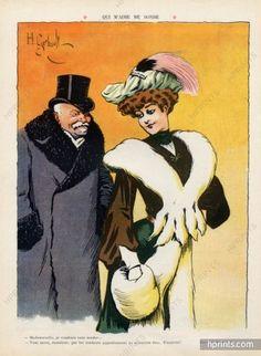 Henry Gerbault 1907 Elegante Courtisane. Le Rire