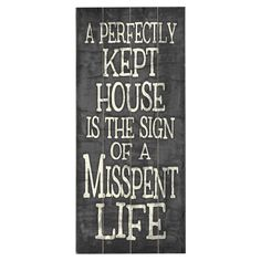 A perfectly kept house...