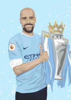 Manchester City, Soccer Drawing, Memphis, Zen, City Logo, Stoner Art, Pep Guardiola, Football Pictures, City Illustration
