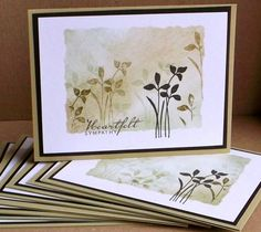 "handmade ""adaptable"" cards … Tessa makes several with no sentiment and then st… - Mask Making - Face Mask - Masquerade Mask - Mask Homemade Beautiful Handmade Cards, Stamping Up Cards, Get Well Cards, Pretty Cards, Watercolor Cards, Sympathy Cards, Paper Cards, Flower Cards, Cool Cards"