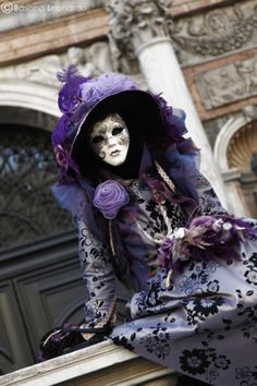 Venetian carnival masks...    Delicacy Violet by *Leox90