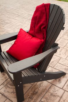 Adirondack Chairs Gathered Around A Coffee Table Creates A Popular Hangout Sp