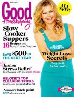 Alison Sweeney on the cover of Good Housekeeping