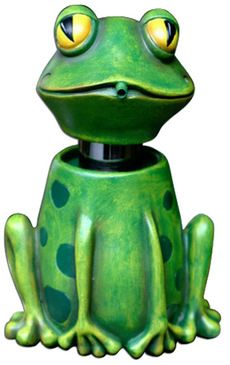 cute whimsical frog soap spitter  green dispenser michelle allen designs