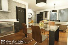 Nowinka III - optymalny projekt domu dla 4-5 osobowej rodziny. Tani w realizacji i ekonomiczny w eksploatacji. Zapraszam do zapoznania się z projektem.  Wizualizacja wnętrza - salon z otwarta kuchnią.