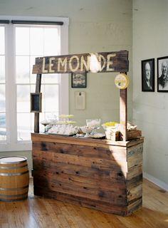 lemonade stand cake and dessert display