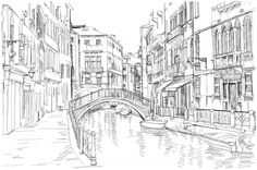 Find Venice Fondamenta Rio Marin stock images in HD and millions of other royalty-free stock photos, illustrations and vectors in the Shutterstock collection. Thousands of new, high-quality pictures added every day. Printable Adult Coloring Pages, Coloring Pages To Print, Colouring Pages, Italy Illustration, Landscape Pencil Drawings, Venice Painting, Italy Landscape, Architecture Drawings, Urban Sketching