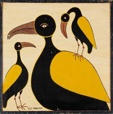 Birds Family by Edward Saidi Tingatinga, Tanzania