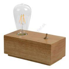 Lucide 08516/04/72 - LED stolná lampa EDISON 1xE27/4W/230V
