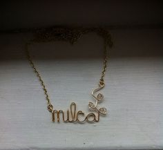 Mom necklace, name plate necklace, personalized on Etsy, $15.00