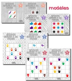 La maternelle de Laurène Act Math, Math 2, Kindergarten Math, Teaching Math, Animal Worksheets, Worksheets For Kids, Sudoku, Busy Bags, Craft Activities For Kids