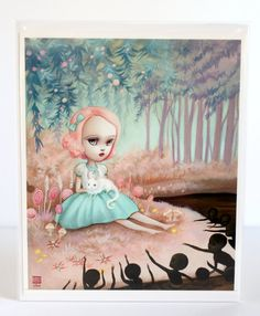 LAST ONE - Flavia in the Chocolate Swamp - Limited Edition signed and numbered 8x10  Fine Art Print -unframed