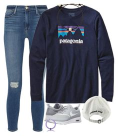 Untitled #1304 by southernstruttin on Polyvore featuring Frame Denim, NIKE, Vineyard Vines and Patagonia