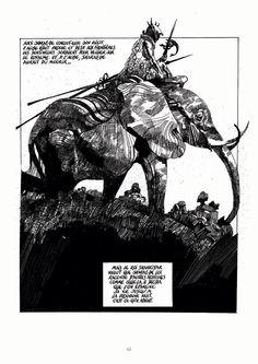 Eléphant (Sharaz-De) par Sergio Toppi
