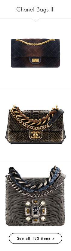 """Chanel Bags III"" by sakuragirl ❤ liked on Polyvore featuring bags, handbags, man bag, handbag purse, chanel purse, chanel, hand bags, purse bag, jewelry and metallic jewelry"