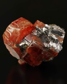 Fine Collector Mineral Specimens - Andy Seibel  Rhodonite with Galena / Mineral Friends <3