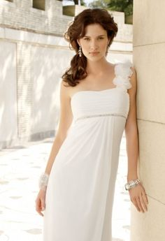 Wedding Dresses - Chiffon and Satin Side Drape Wedding Dress from Camille La Vie and Group USA