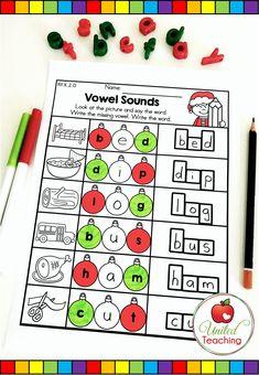 Christmas Phonics Activity - Vowels